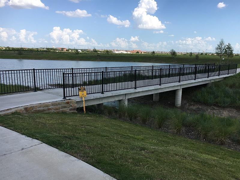 Pedestrian Bridge Design Light Farms Tributary