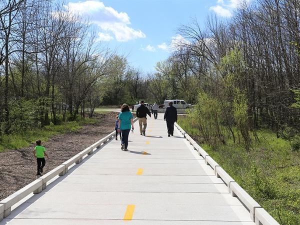 Pedestrian Bridge at Design Clabber Creek